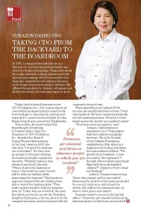 Corazon Dayro-Ong, Vice Chairman of CDO Foodsphere Inc.